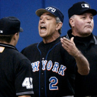 METS MANAGER BOBBY VALENTINE THROWN OUT OF GAME AGAINST EXPOS